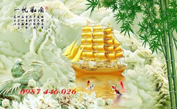 Tranh gạch men thuận buồm xuôi gió HP0146