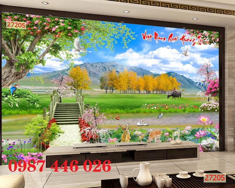 Gạch tranh 3d phong cảnh HP12698