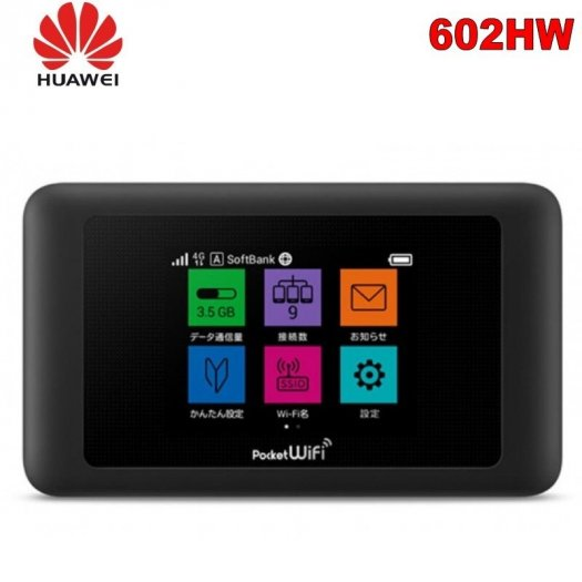 Bộ phát Wifi 4G Pocket 602HW LCD cảm ứng0