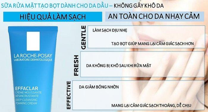 Sữa Rửa Mặt La Roche Posay Effaclar Deep Cleansing Foaming Cream 125ml4