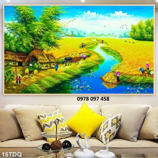 Tranh gạch men - tranh làng quê1