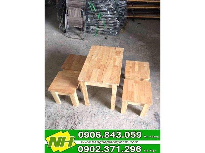 Bàn ghế đẩu gỗ giá tốt tại xưởng- nội thất Nguyễn hoàng1