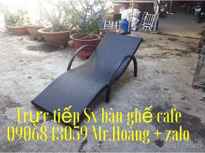 Ghế nhựa giả mây hồ bơi - nội thất Nguyễn hoàng0