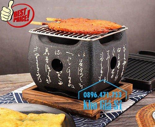 Bếp nướng gang kiểu Nhật - Lò nướng Nhật Bản - Bếp nướng than bằng gang kiểu Nhật HCM4