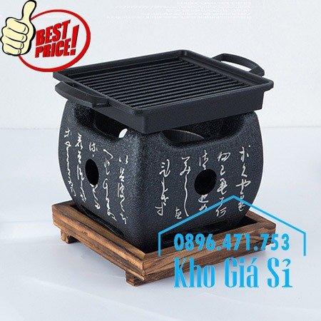Bếp nướng gang kiểu Nhật - Lò nướng Nhật Bản - Bếp nướng than bằng gang kiểu Nhật HCM2