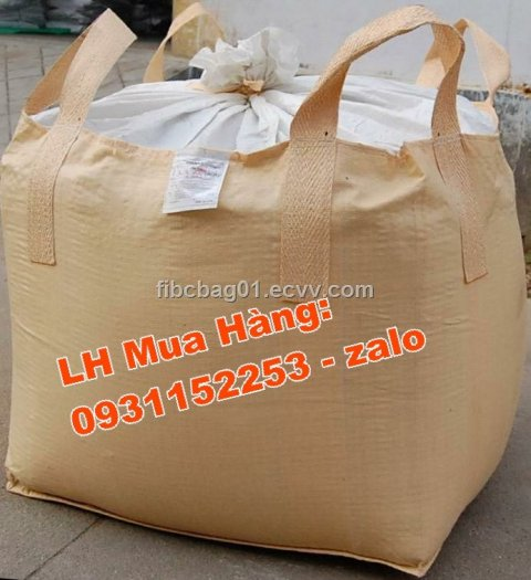 Bao jumbo 1 tấn đựng lúa gạo, Bao jumbo ủ chua thức ăn chăn nuôi0