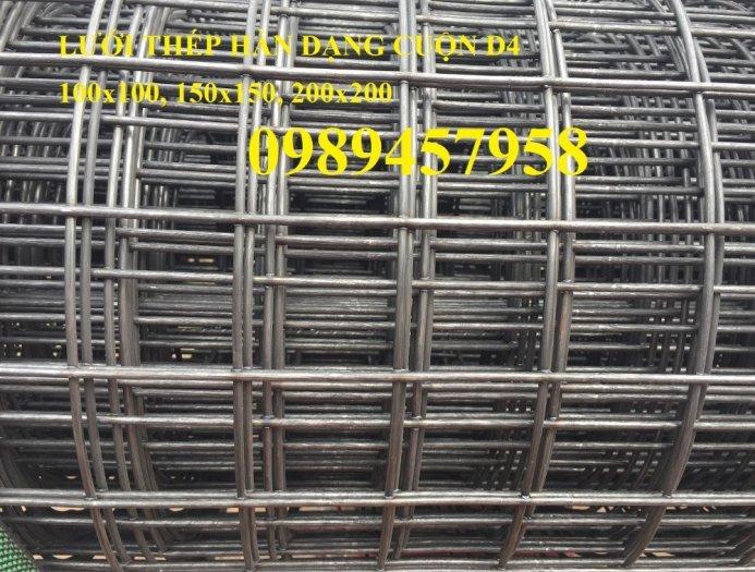 Chuyên Lưới thép đổ sàn bê tông đổ đường chống nứt phi 4, Lưới thép phi 4 ô 200x200, 250x25013