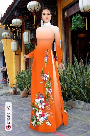 Vải áo dài hoa đẹp GH 783914