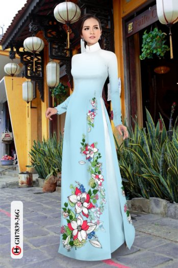 Vải áo dài hoa đẹp GH 783913