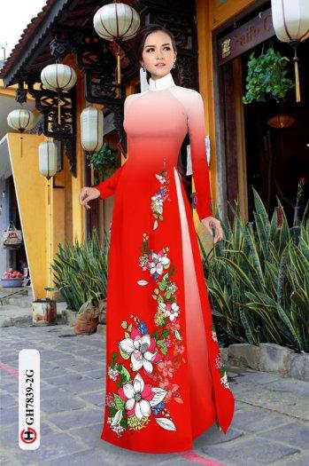 Vải áo dài hoa đẹp GH 783912