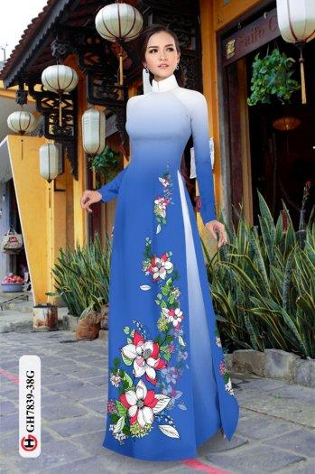 Vải áo dài hoa đẹp GH 783911
