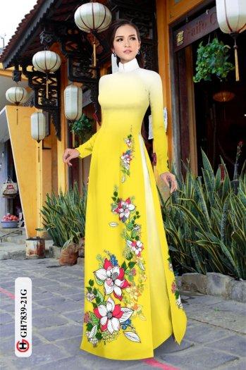 Vải áo dài hoa đẹp GH 783910