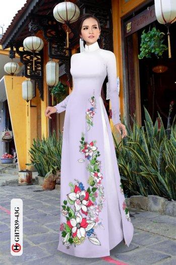 Vải áo dài hoa đẹp GH 78399