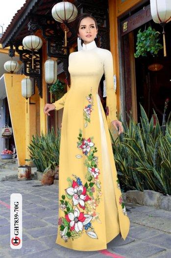 Vải áo dài hoa đẹp GH 78398