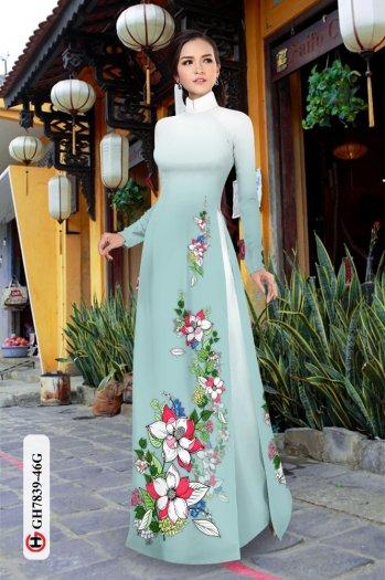 Vải áo dài hoa đẹp GH 78397
