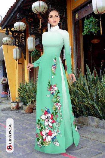 Vải áo dài hoa đẹp GH 78395