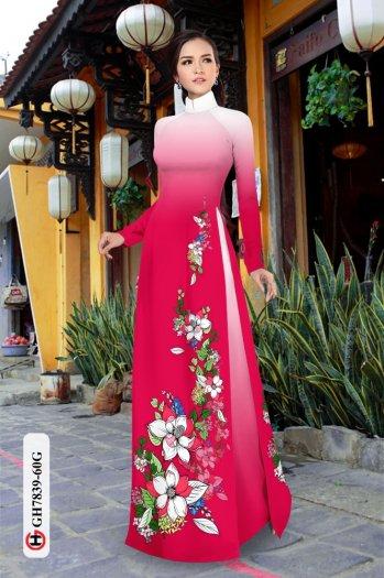 Vải áo dài hoa đẹp GH 78394