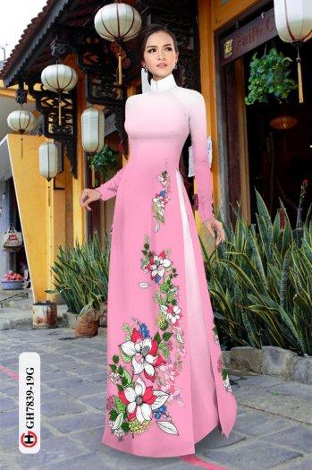 Vải áo dài hoa đẹp GH 78393