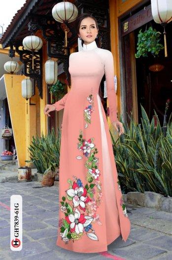 Vải áo dài hoa đẹp GH 78392