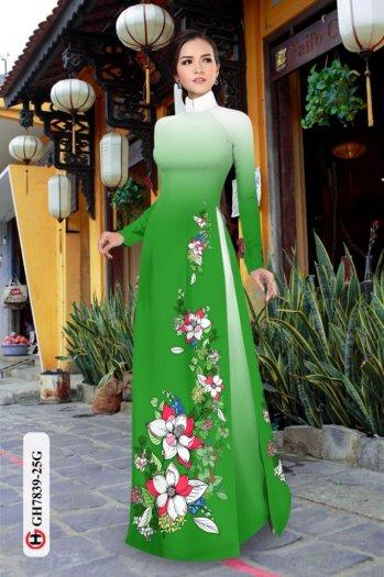 Vải áo dài hoa đẹp GH 78391
