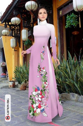 Vải áo dài hoa đẹp GH 78390