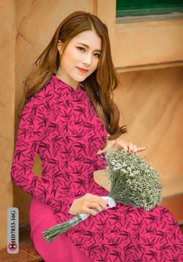 Vải áo dài hoa đẹp HD 783314