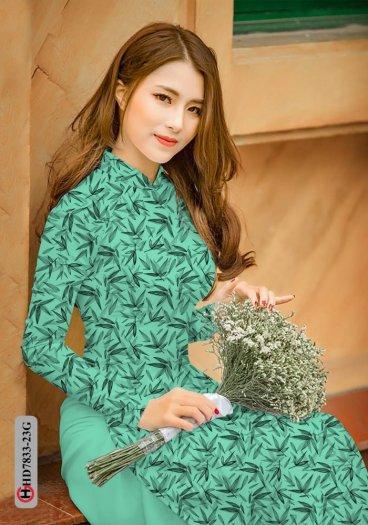 Vải áo dài hoa đẹp HD 783313