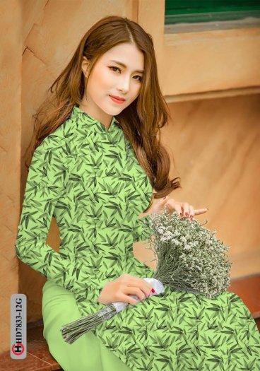 Vải áo dài hoa đẹp HD 783312