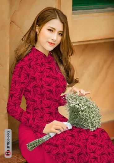 Vải áo dài hoa đẹp HD 783311
