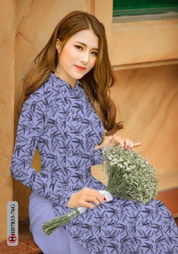 Vải áo dài hoa đẹp HD 78338