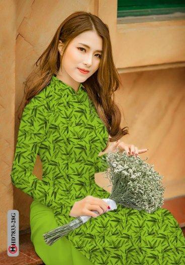 Vải áo dài hoa đẹp HD 78337