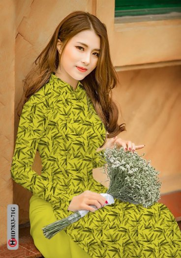 Vải áo dài hoa đẹp HD 78336