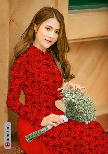 Vải áo dài hoa đẹp HD 78335