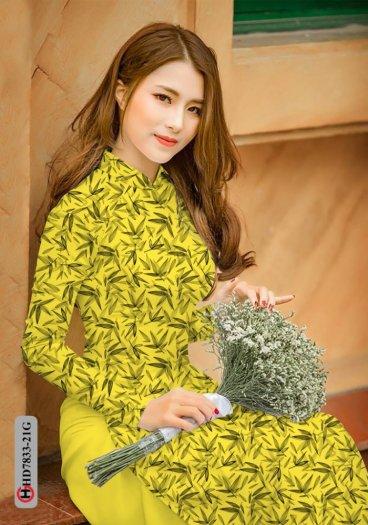 Vải áo dài hoa đẹp HD 78334