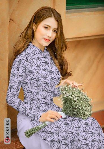 Vải áo dài hoa đẹp HD 78330
