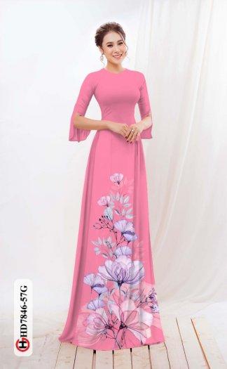 Vải áo dài hoa đẹp được thiết kế đôc đáo của Vải Áo Dài Kim Ngọc HD 784612