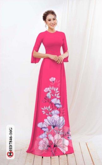 Vải áo dài hoa đẹp được thiết kế đôc đáo của Vải Áo Dài Kim Ngọc HD 78469