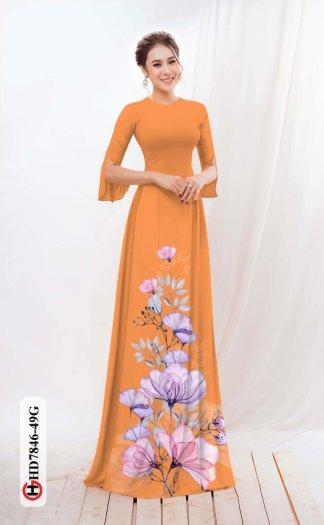 Vải áo dài hoa đẹp được thiết kế đôc đáo của Vải Áo Dài Kim Ngọc HD 78468
