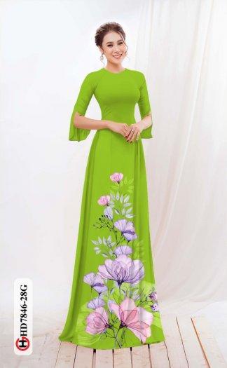 Vải áo dài hoa đẹp được thiết kế đôc đáo của Vải Áo Dài Kim Ngọc HD 78466