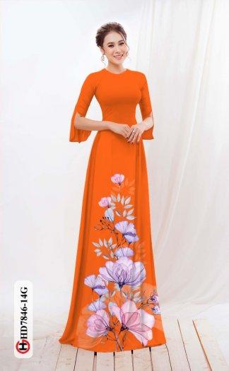 Vải áo dài hoa đẹp được thiết kế đôc đáo của Vải Áo Dài Kim Ngọc HD 78465
