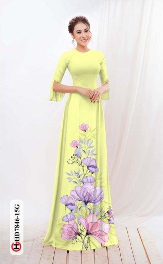 Vải áo dài hoa đẹp được thiết kế đôc đáo của Vải Áo Dài Kim Ngọc HD 78463