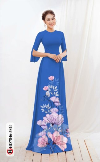 Vải áo dài hoa đẹp được thiết kế đôc đáo của Vải Áo Dài Kim Ngọc HD 78460