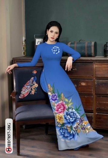 Vải áo dài in hình mẫu đẹp hd 785714