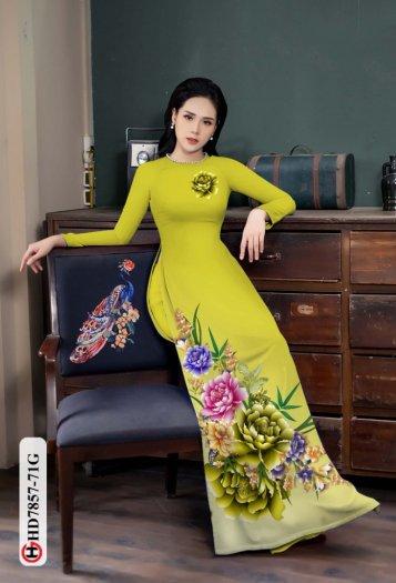 Vải áo dài in hình mẫu đẹp hd 785713