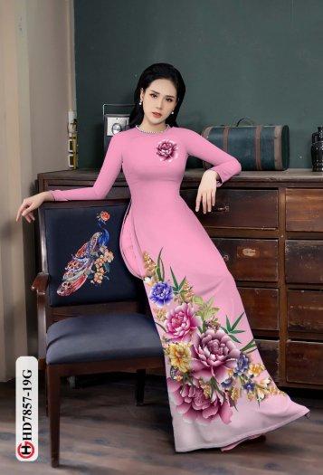 Vải áo dài in hình mẫu đẹp hd 785712