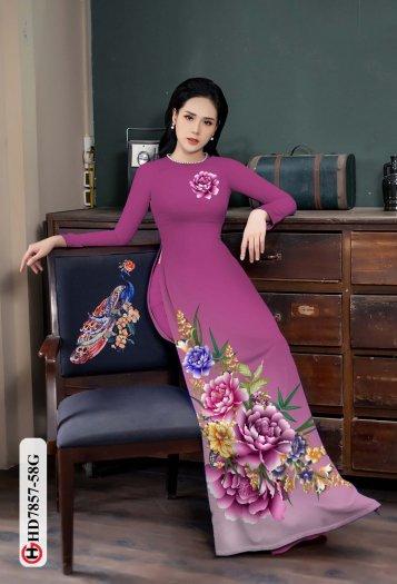 Vải áo dài in hình mẫu đẹp hd 785711