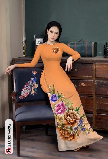 Vải áo dài in hình mẫu đẹp hd 785710