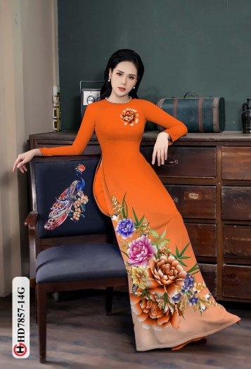 Vải áo dài in hình mẫu đẹp hd 78579