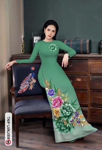 Vải áo dài in hình mẫu đẹp hd 78578