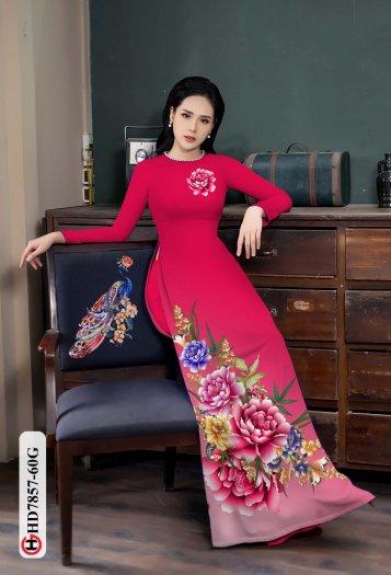 Vải áo dài in hình mẫu đẹp hd 78577